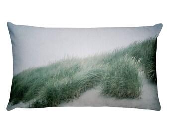 Beach Sand Dunes Rectangular Throw Pillow / Beach Dunes Pillow / PNW Beach Pillow / Nature Pillow / Landscape Photo Pillow / Art Pillow