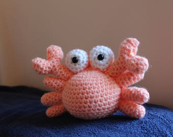 Crocheted Crab Stuffed Animal