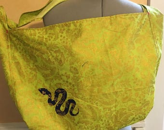 Chartreuse Messenger / Crossbody Bag
