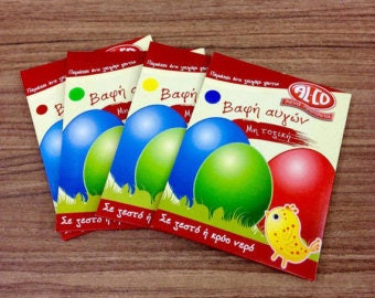 Non toxic easter egg dye in four different colors