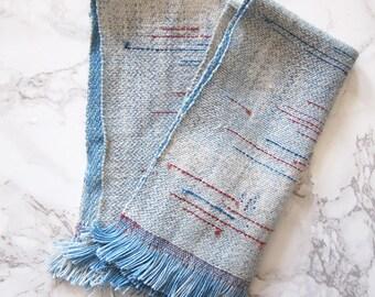 Set of 2 cloth napkins, indigo fabric, kitchen linens, woven napkins, handwoven fabric // WOVEN NAPKIN SET // kitchen decor, cotton napkins