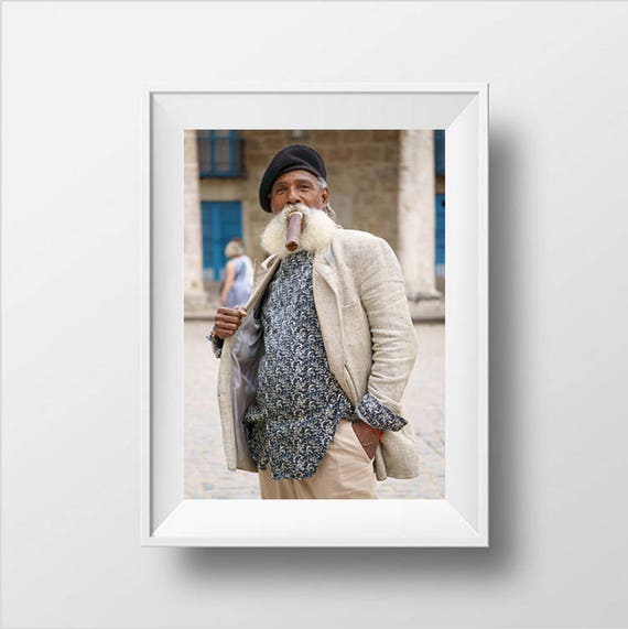 Kubanische Mann mit Zigarre Raucher Kuba Kuba Fotografie