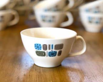 Temporama Teacup - Read Description, Cannonsburg Pottery Ceramic, Mid Century Modern Dining Room