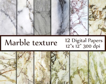 """Marble Digital Paper: """"MARBLE TEXTURE PAPER"""" Marble Stone Texture Granite Texture decoupage papers photography bacdrop marbled paper"""