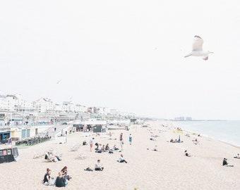 Brighton beach in the summer