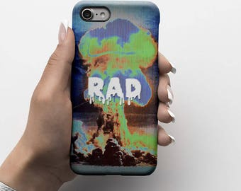 Atomic Bomb Explosion Rad Durable Hard Plastic Phone Cover For iPhone 6, iPhone 7, Samsung Galaxy S |ID187
