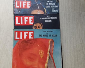 Vintage Life Magazine Inserts 1955 The Worlds Great Religions