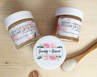 Organic Sugar Lip Scrub by Serenity + Blossom