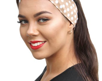 Toffee Spot Retro Land Girl Rockabilly Pinup 50s Vtg Style Head Scarf