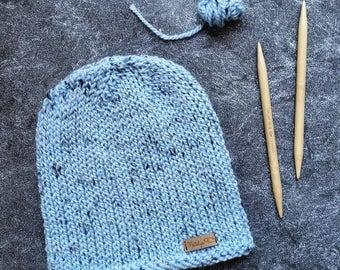 Knitting Pattern, Knit Hat Pattern, Womens Hat Pattern, Chunky Knit Hat Pattern, Mens Hat Pattern, Winter Hat Pattern, Knit Beanie Pattern