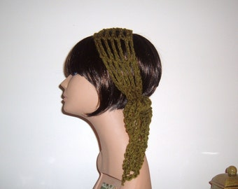 The Mini Makeeda Headwrap Headband Hair Tie Scarf in Olive Green  Choose Your Color