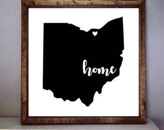 Custom State & City Home Sign, Rustic