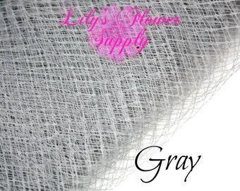 Russian Veil - Birdcage Veil Netting - Gray - 1 YARD - Choose Your Quantity - French Netting - DIY Fascinator - Russian Veil - Wedding Veils