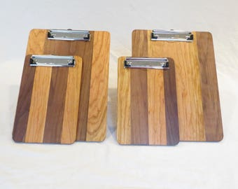 Walnut and cherry clipboards, large and small