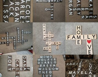 Scrabble Tile Home Decor