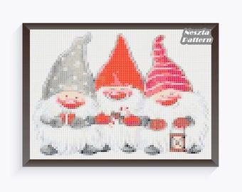Christmas Elf Cross Stitch Pattern, Elf x stitch pattern, Cross stitch Embroidery, Elfs, Cute Elf, Embroidery pattern, Home decor, Pdf