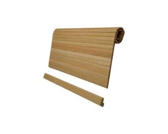 SHORT SELLERS   Horizontal Oak Kitchen Cabinet Tambour Roll Door Napanee  Boone McDougal Hoosier Roll Top
