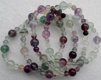 Fluorite ~ s t r e t c h ~ necklace