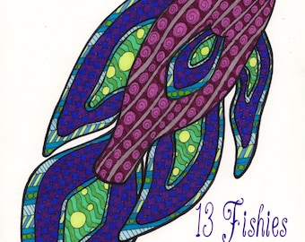 Doodle Fish - A Coloring Book For Adults With Zentangle-Inspired Designs