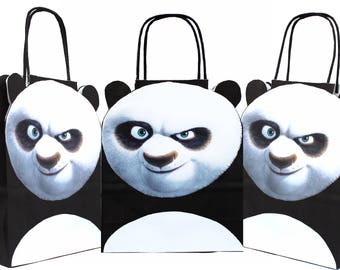 Personalised Kung Fu Panda Party Gift Bags for Birthdays and other occasions Packs of 5, 10, 15, 20, 25, 30, 35, 40
