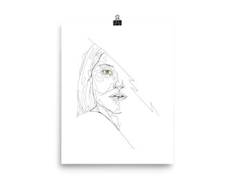 Topographic Portrait Poster