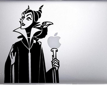 Maleficent Sleeping Beauty  Macbook Decal  for Apple MacBook  Air / Pro, Custom Mac decal