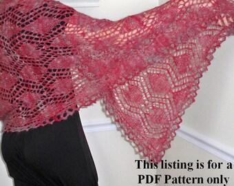 knit wrap pattern hearts and diamonds, knit shawl diy, lace knit instructions, womens knit wrap shawl pattern, plus size knit pattern