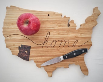 On SALE Today Custom Wood Burned Cutting Board, USA Wood Wall Art, Kitchen Sign Art, Kitchen Decor, Anniversary Gift Farmhouse Kitchen Decor
