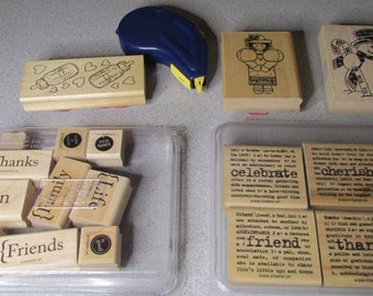 Stampin Up, Creative Memories & Misc stamps Lot, NR