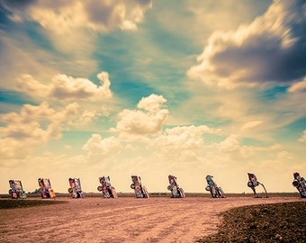 Cadillac Ranch |  travel, tourism, long-exposure, southwest, Amarillo, Texas, art, photography, cars, automobiles, desert, beauty, creative
