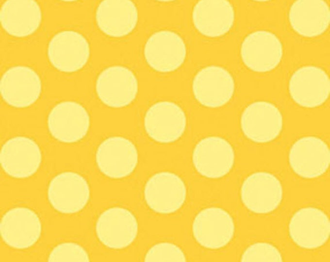 This 'N That - Gum Drops in Gold - Yellow Polka Dots Cotton Quilt Fabric - by Nancy Halvorsen for Benartex Fabrics - 861-30 (w1660)