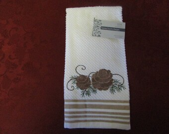 Embroideried kitchen or hand towel