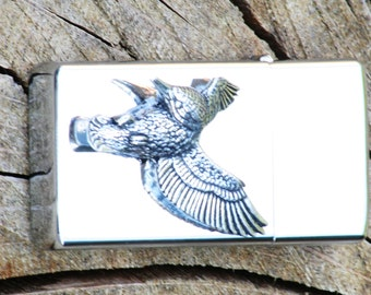 Kingfisher Petrol Personalised Lighter Engraved Gift