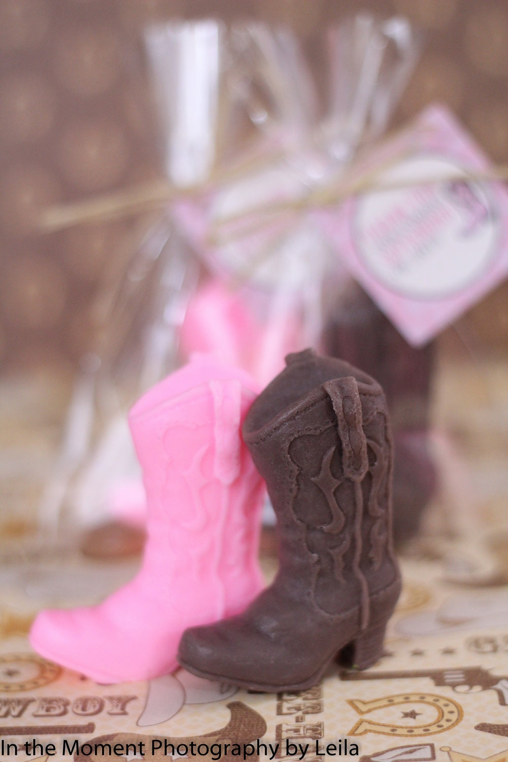 10 COWBOY BOOT SOAPS Favors Western Bridal Shower Favor