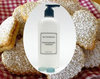 Scottish Shortbread Lotion Shea Butter Body Lotion, Complete Moisturizer, Face Lotion Hand Lotion Body Lotion, Wholesome Daily Gentle Lotion