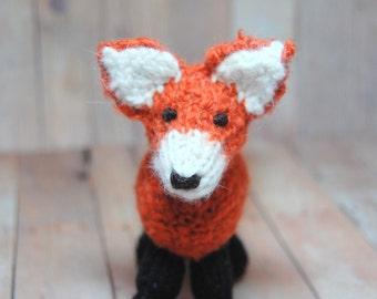 Knitting Pattern Fox Toy Digital Download PDF Waldorf Knit Fox Pattern DIY