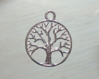 925 Sterling Silver TREE of life, 22x18mm - PC-0111
