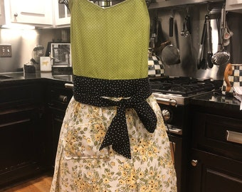 Apron done in up cycled fabric