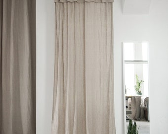Simple linen curtains, 16 colors, Natural linen drapes, Linen window curtains, Window curtain panel, Custom curtains, Living room curtains