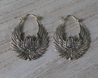 Pair of scarab earrings