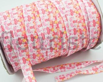 Fold Over Elastic, FOE, Foldover Elastic, Elastic By The Yard, 5/8 Elastic, Printed Elastic, Wholesale Elastic, Flamingos Elastic