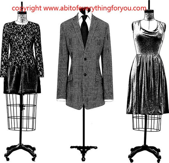 wire mannequins clothes fashion art clipart png download digital image graphics digital stamp black and white artwork