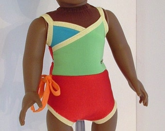 Color Block Wrap Bathing Suit