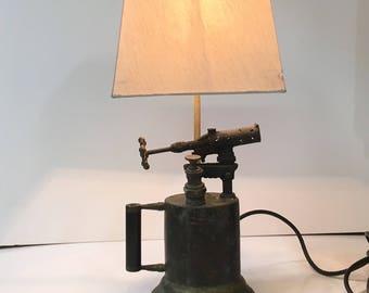 Antique Blowtorch  Lamp