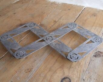 Folding Aluminium Trivet Art Deco