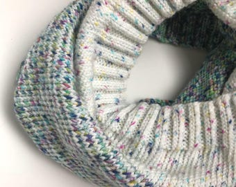 Faded Cowl / Gift for Her / Infinity Scarf / Winter Wear