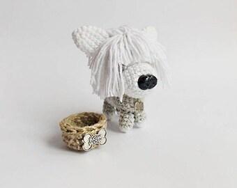 amigurumi dog puppy  / stuffed dog / amigurumi  animals / plush dog / crocheted dog / crochet dog / dog lovers gift /