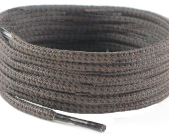 Boot Laces 150 cm long, 4 mm Round Brown with black fleck