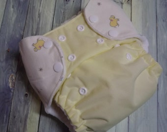 Nykibaby One Size Pocket Cloth Diaper Embellished Tabs Carter's John Lennon PUL