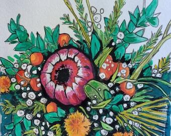 Original watercolor painting 22/100